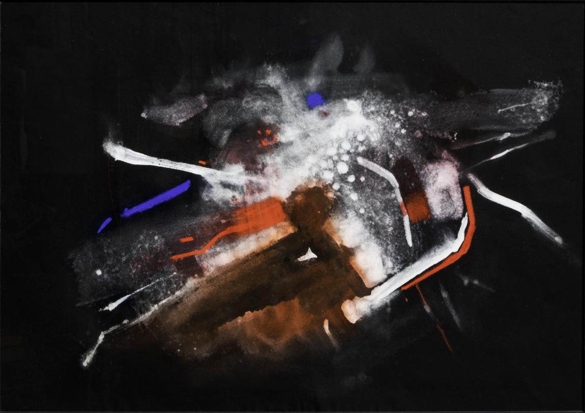 Bacci-Edmondo_Senza-Titolo_anni-'60_tempera-su-cartone-nero_42x60cm