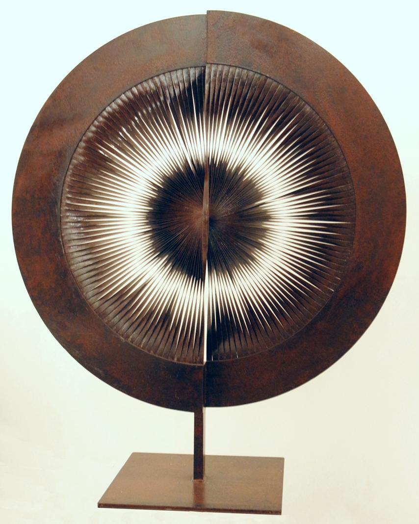 Biasi_Alberto_Dinamica_1988_acciaio-arrugginito,-diametro-80-cm-altezza-95-cm