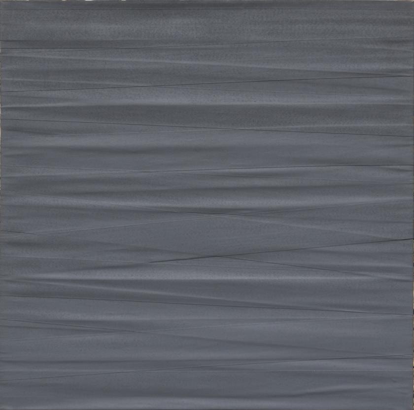 Cotani-Paolo_Bende_1976_acrilici-e-bende-elastiche_100x100cm_1