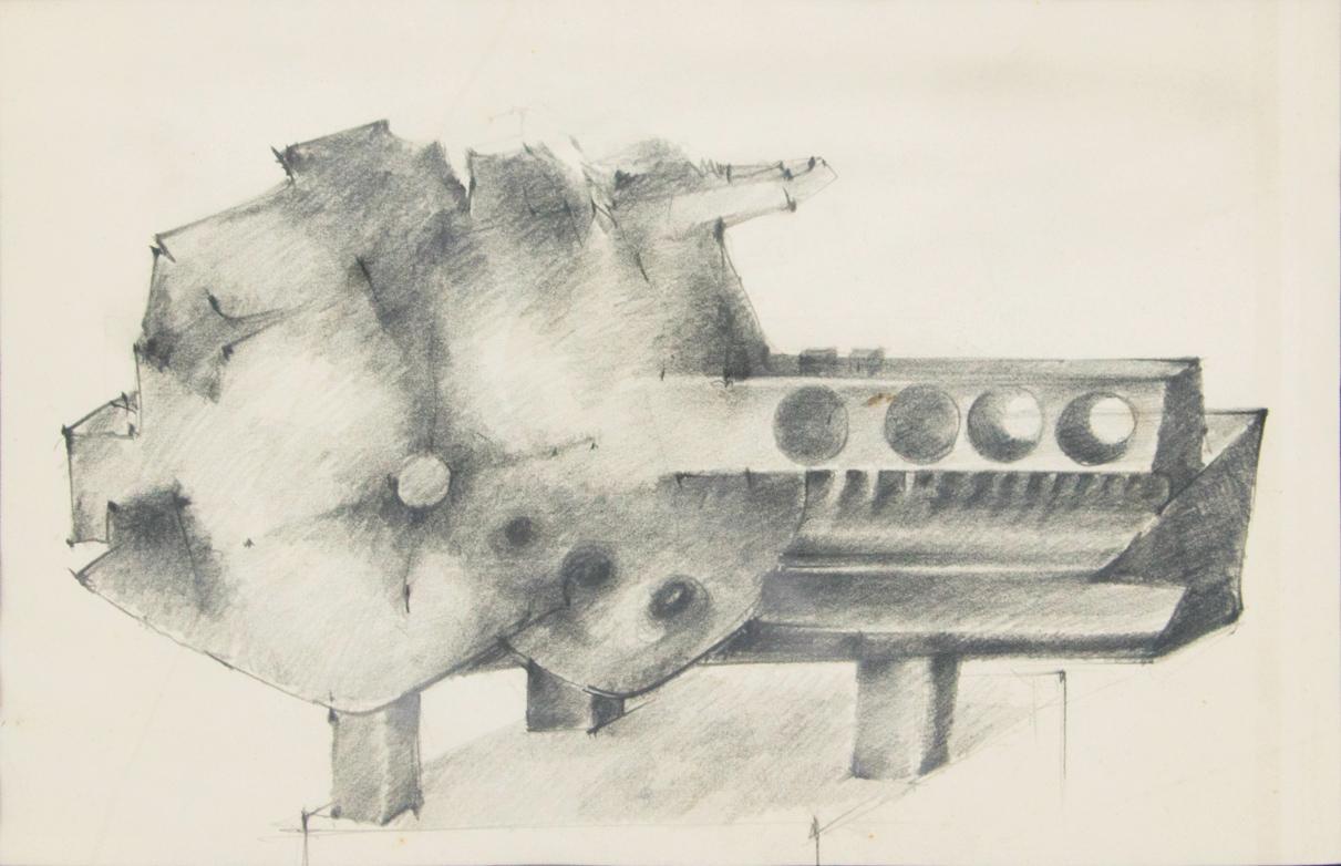 De-Toffoli-Bruno_Studio-per-scultura_1970_matita-su-carta_28x43cm