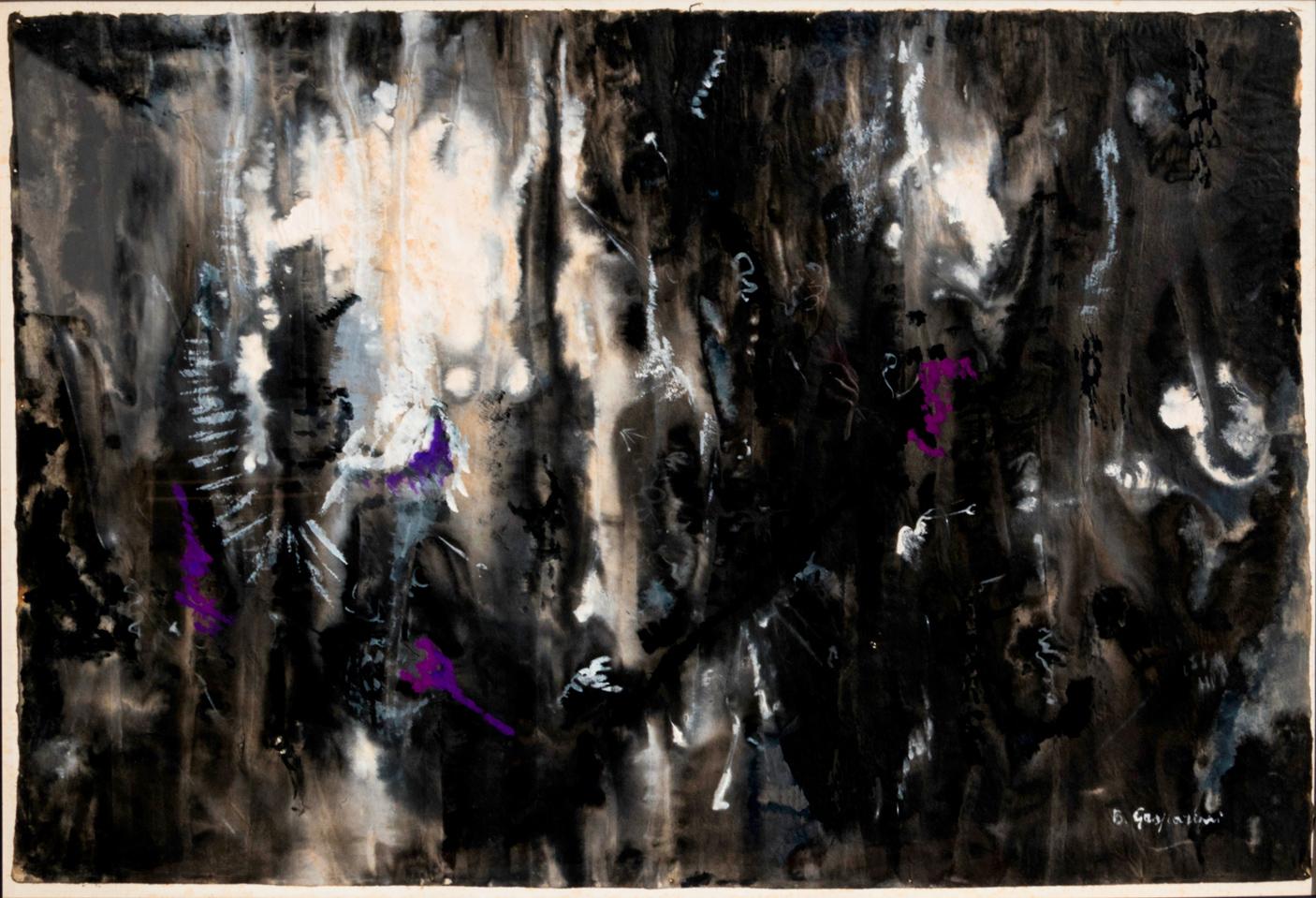 Gasparini-Bruna_Ritmi_1956_tempera-su-carta-giapponese_93x64cm