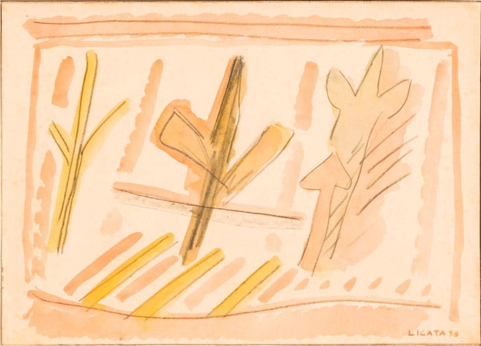 Licata-Riccardo_Senza-Titolo_1958_carta-intelata,-matita-e-gouache_30x42cm